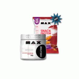 Creatine Monohidratada (300g) + Snack Protein (50g)